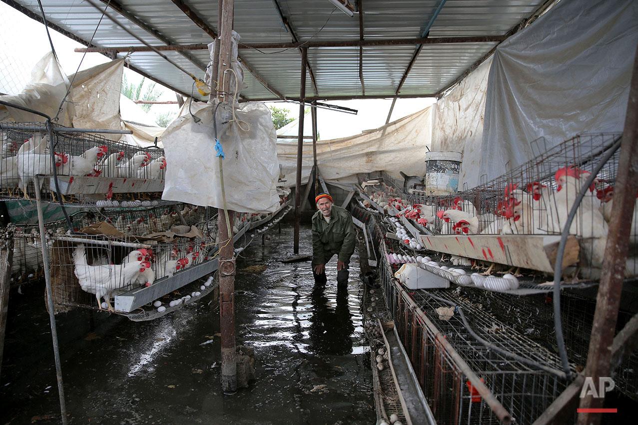 Mideast Palestinians Sewage Flood