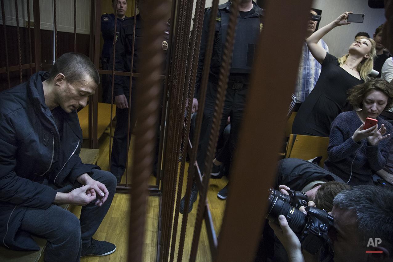 APTOPIX Russia Jailed Artist