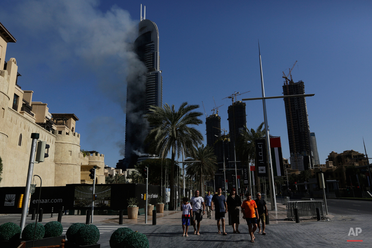 APTOPIX Mideast Emirates Fire
