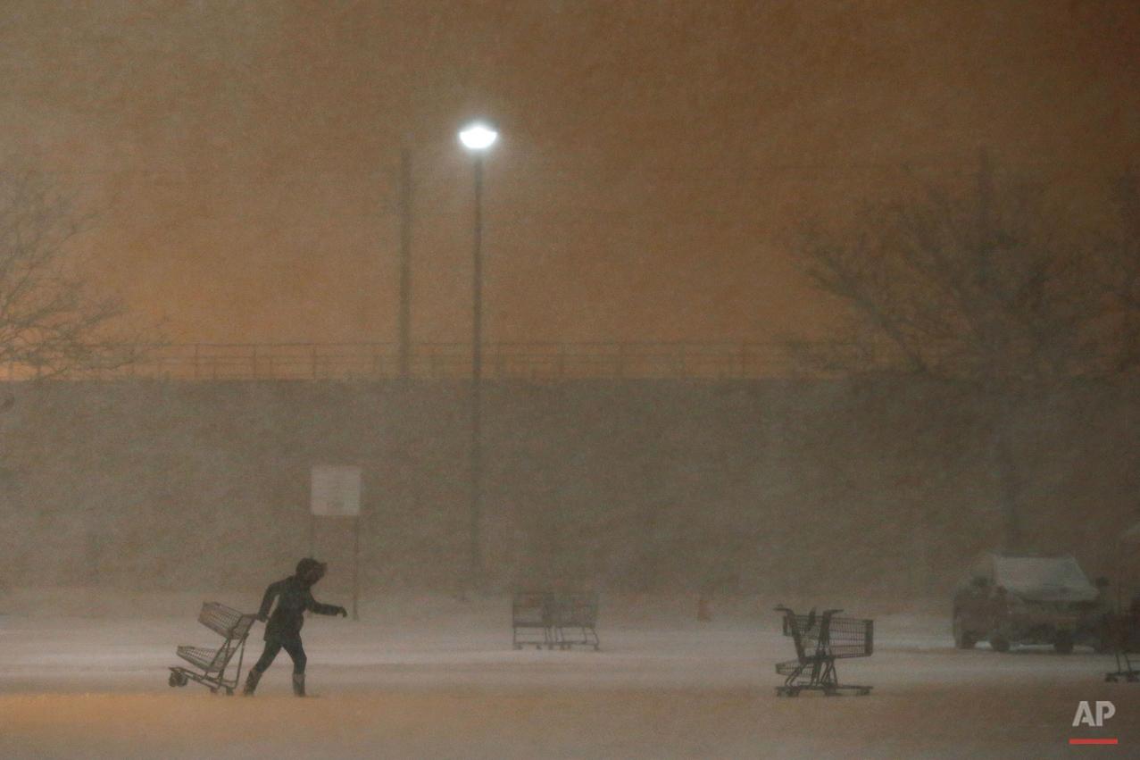 APTOPIX Big Snowstorm New Jersey