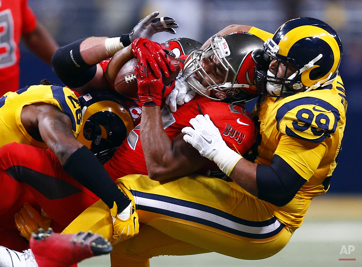 APTOPIX Buccaneers Rams Football