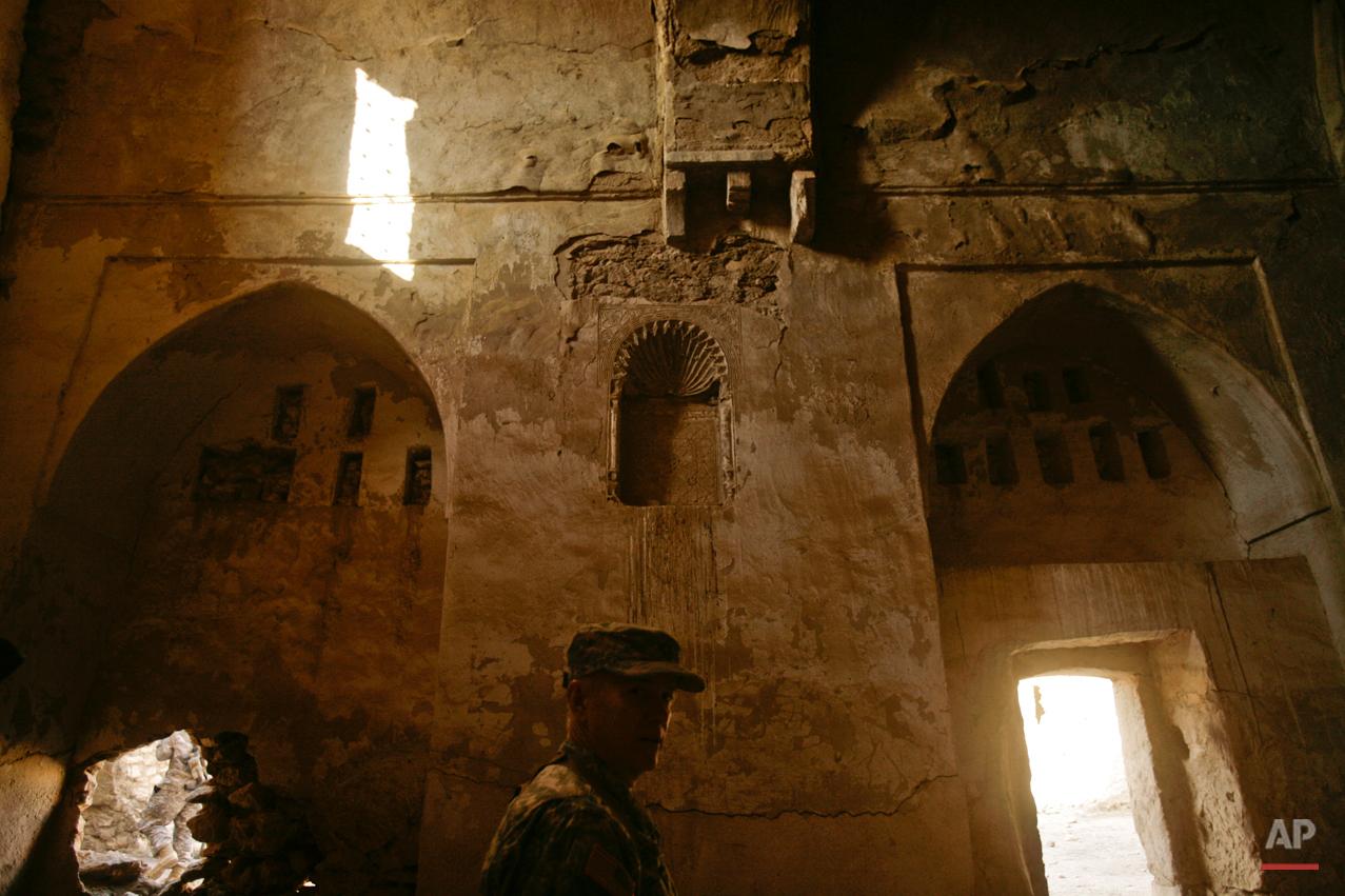 Mideast Iraq Monastery Destroyed