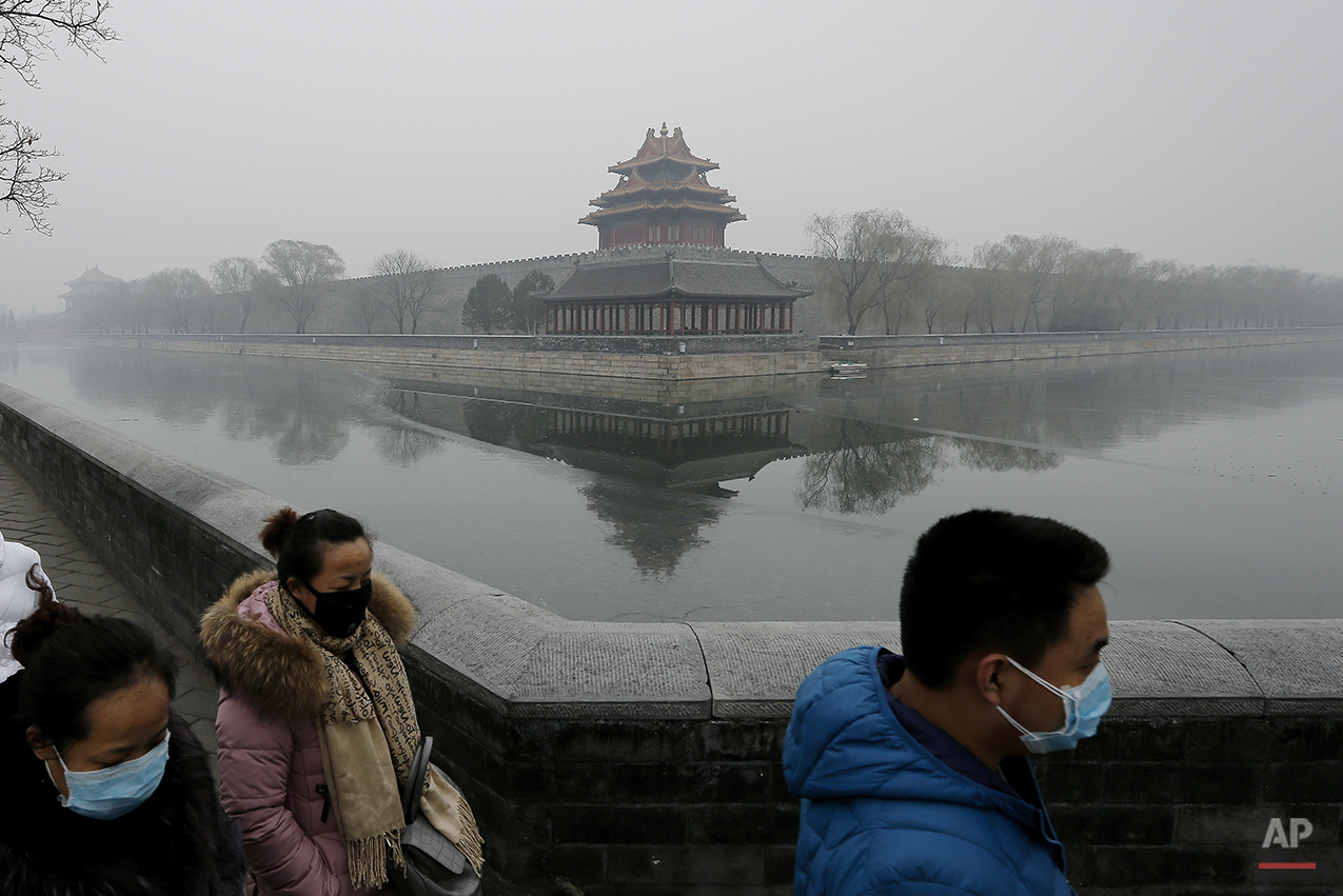 APTOPIX China Smog Alerts