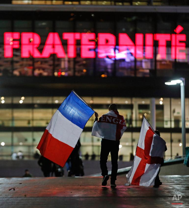 APTOPIX Britain England France Soccer Paris Attacks