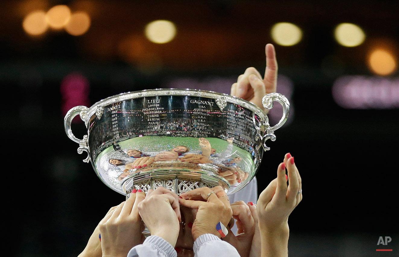 APTOPIX Czech Republic Russia Tennis Fed Cup