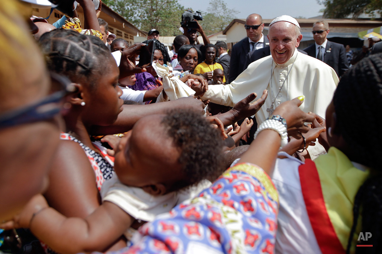 APTOPIX Africa Pope Central African Republic