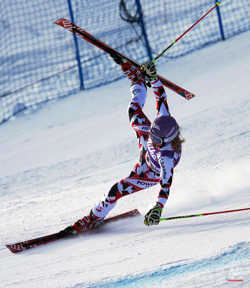 APTOPIX World Cup Womens GS Skiing