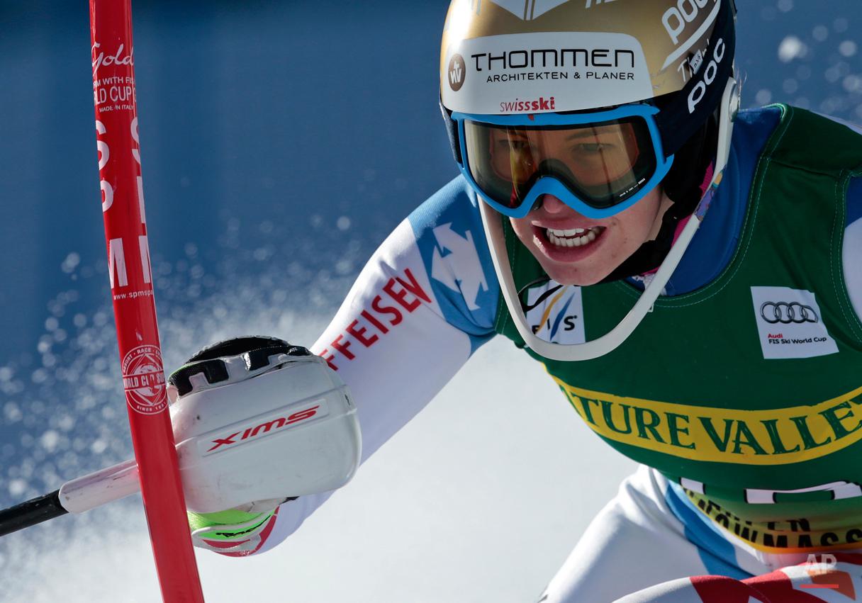 APTOPIX World Cup Womens Slalom Skiing