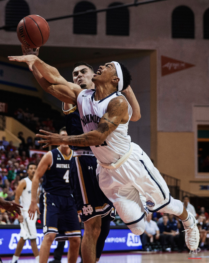 APTOPIX Notre Dame Monmouth Basketball
