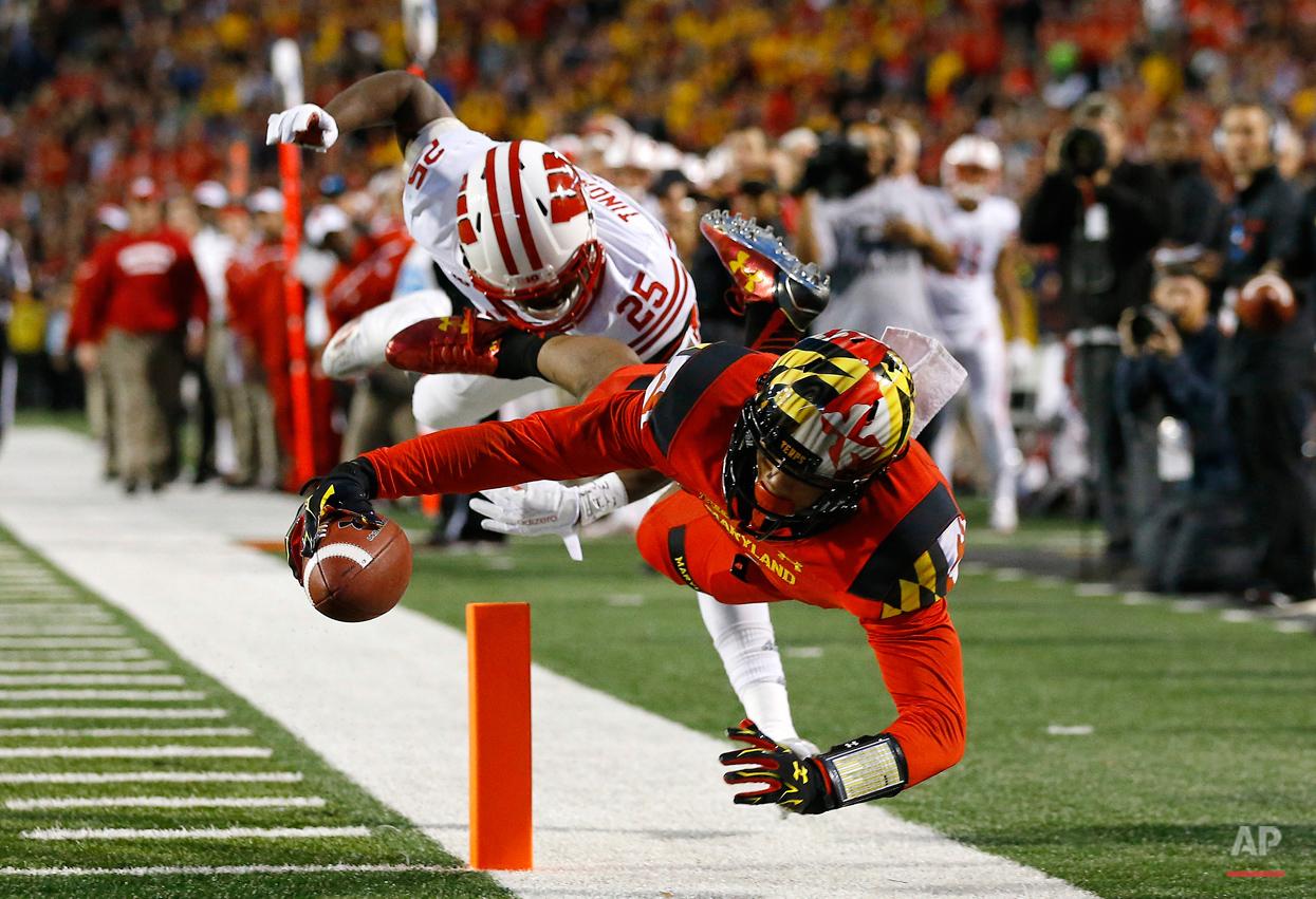 APTOPIX Wisconsin Maryland Football