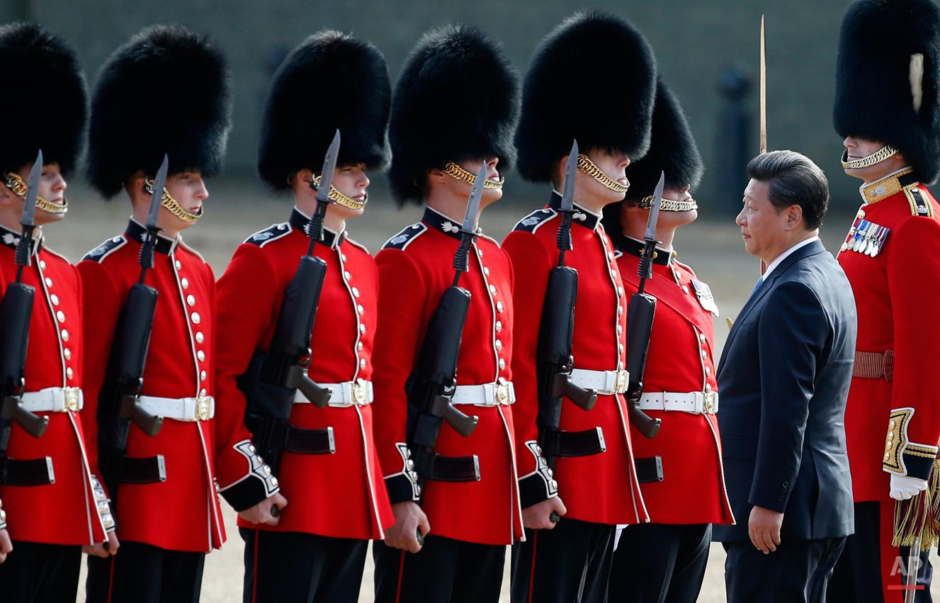 APTOPIX Britain China Visit