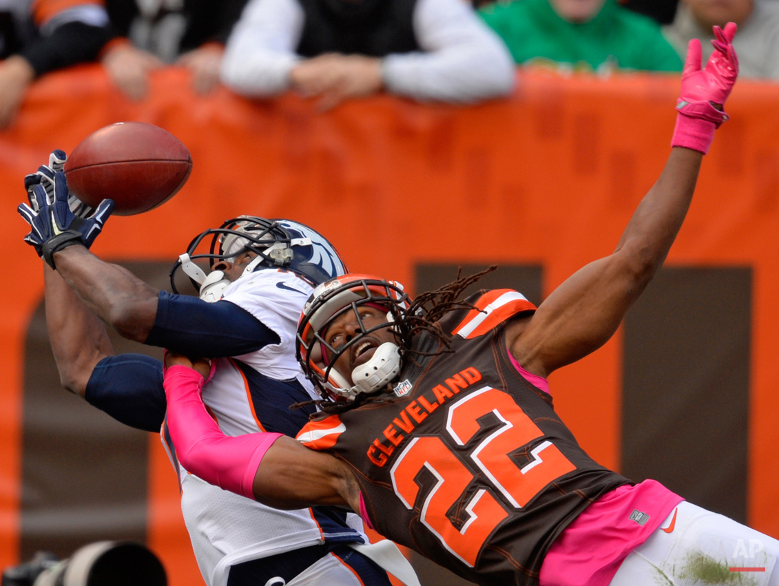 APTOPIX Broncos Browns Football