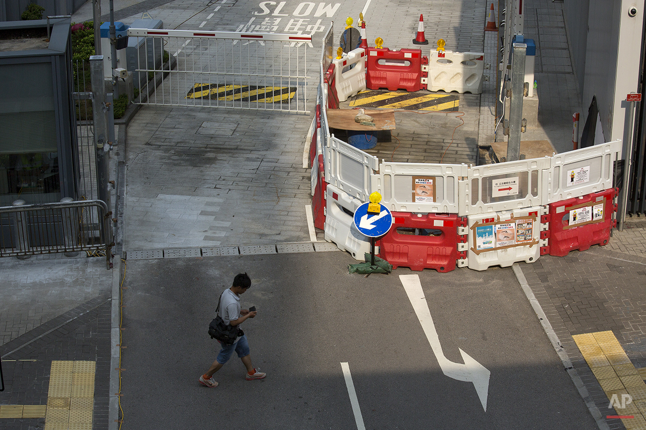 Hong Kong Umbrella Protest Sites Photo Gallery
