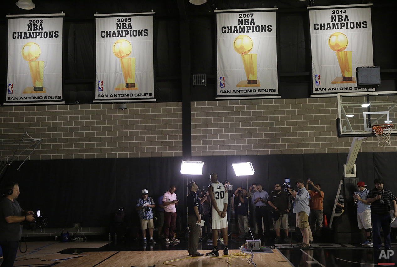 Spurs Media Day Basketball