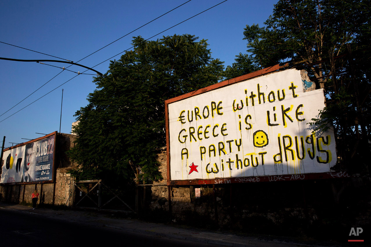 Greece Crisis On The Wall