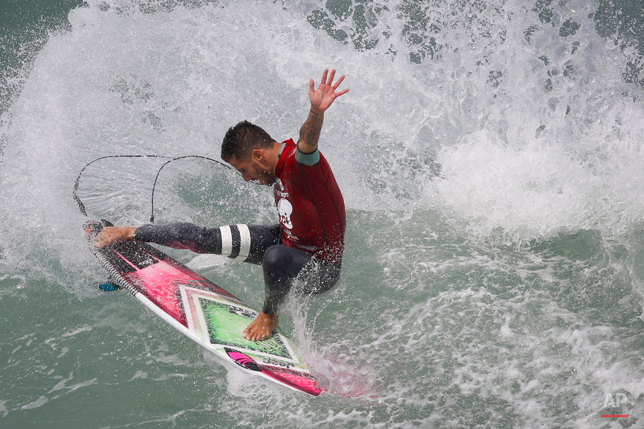 APTOPIX Brazil Surfing
