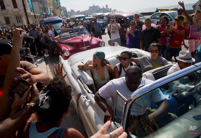 APTOPIX Cuba Rihanna