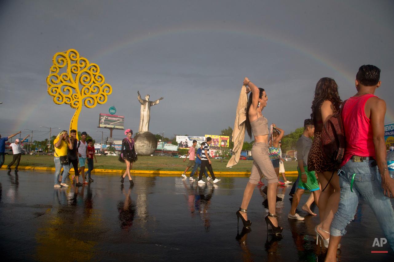 APTOPIX Nicaragua International Day Against Homophobia