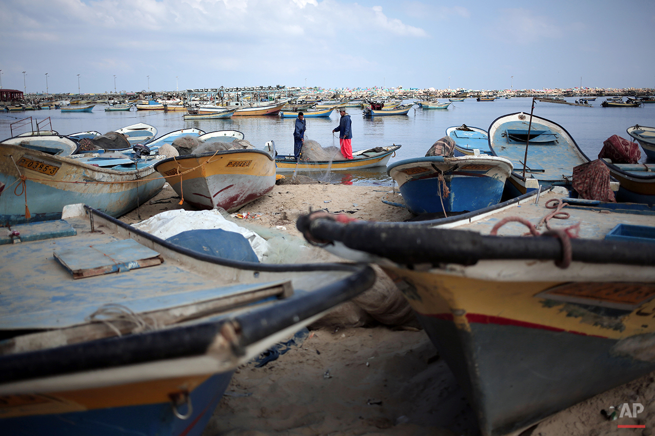 Mideast Gaza Fish Farms
