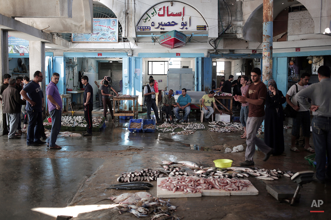 APTOPIX Mideast Gaza Fish Farms