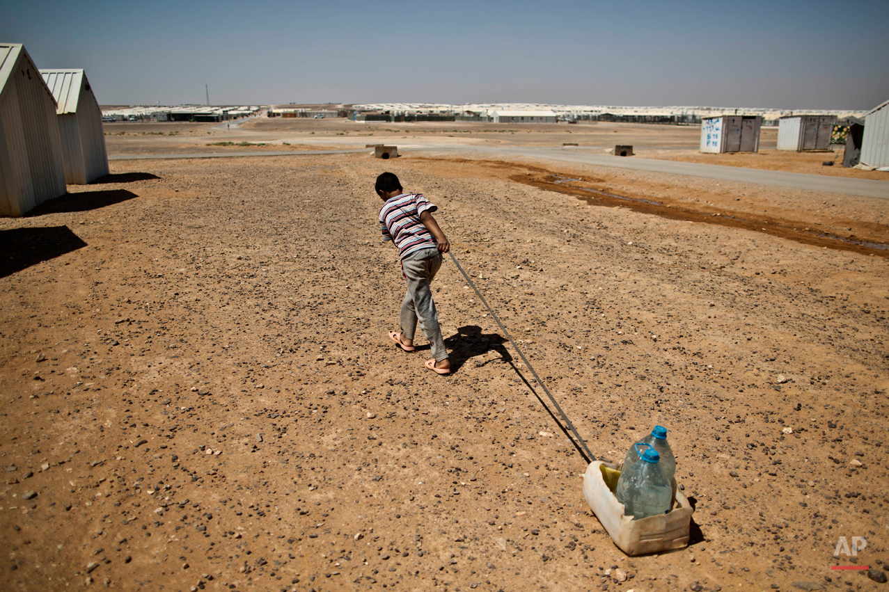 Mideast Jordan Syrian Refugees Daily Life