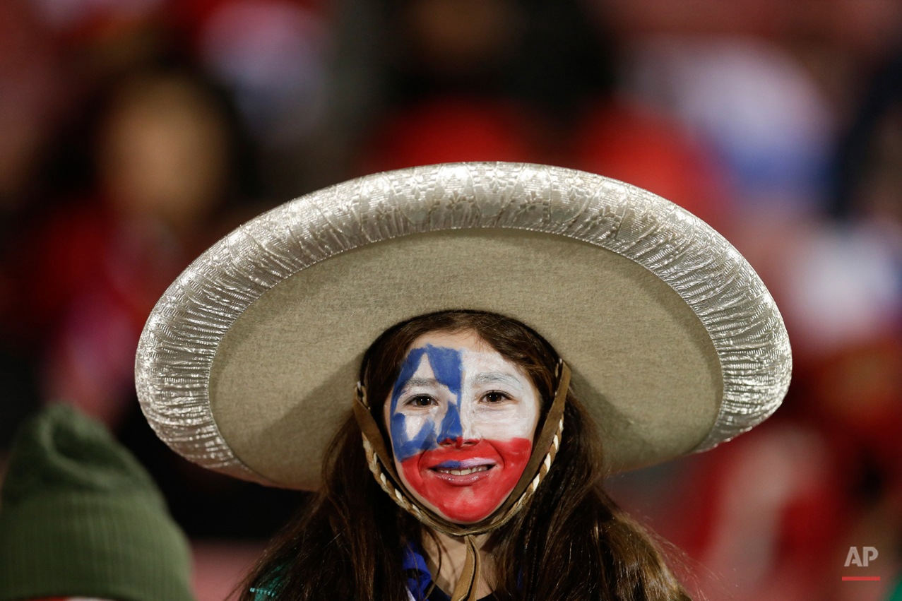 APTOPIX Chile Soccer Copa America Chile Mexico