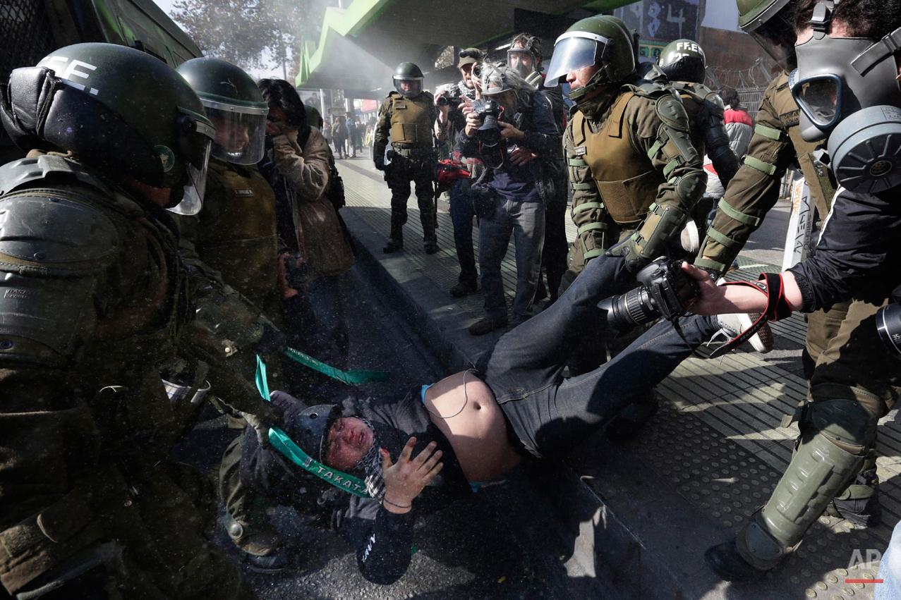 APTOPIX Chile Protest