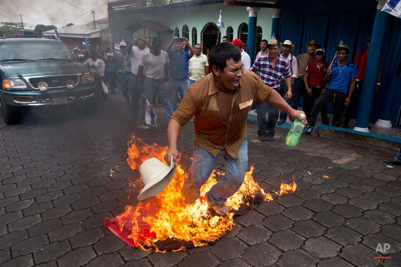 APTOPIX Nicaragua Canal Protest