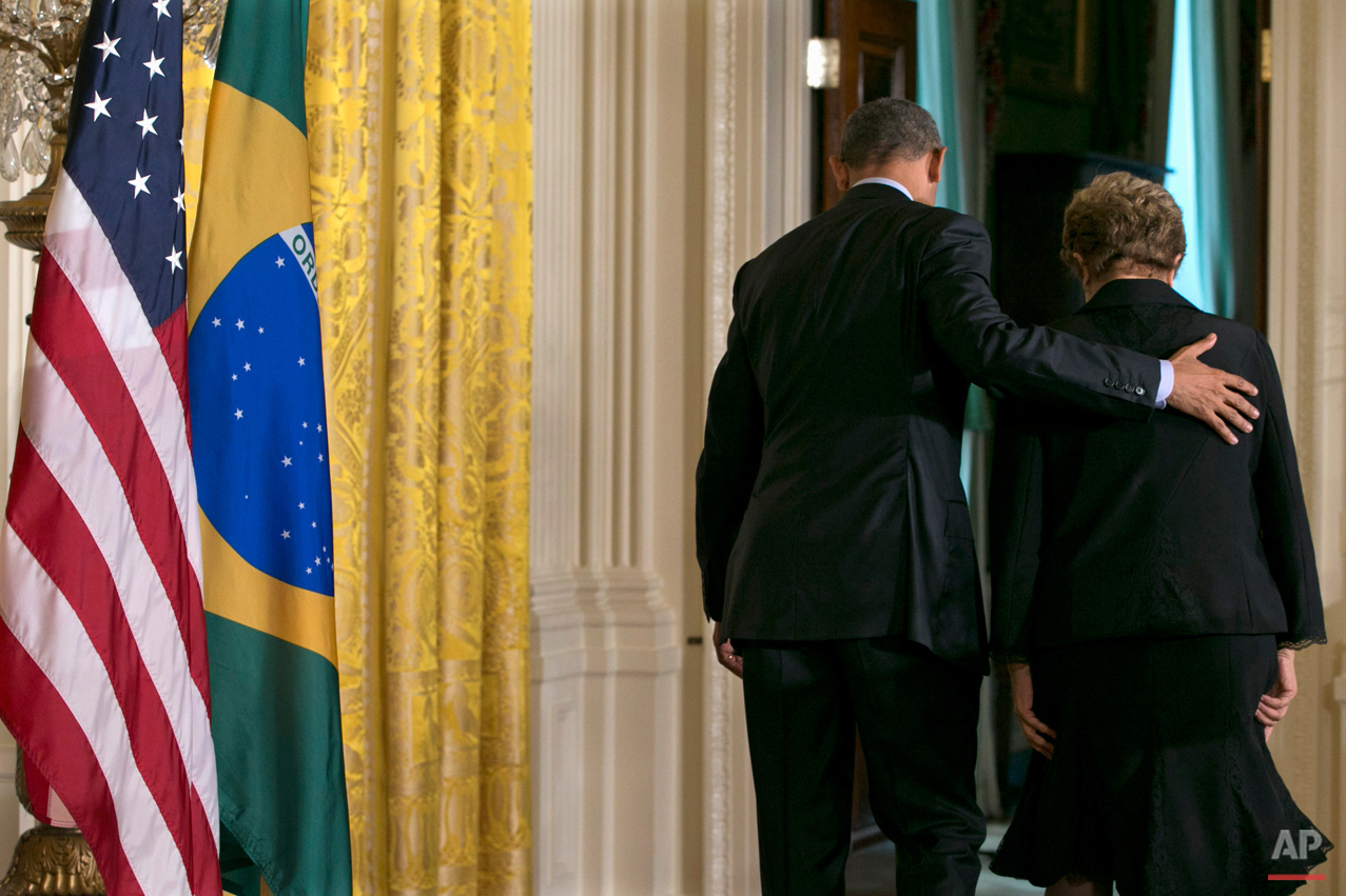 APTOPIX Obama US Brazil