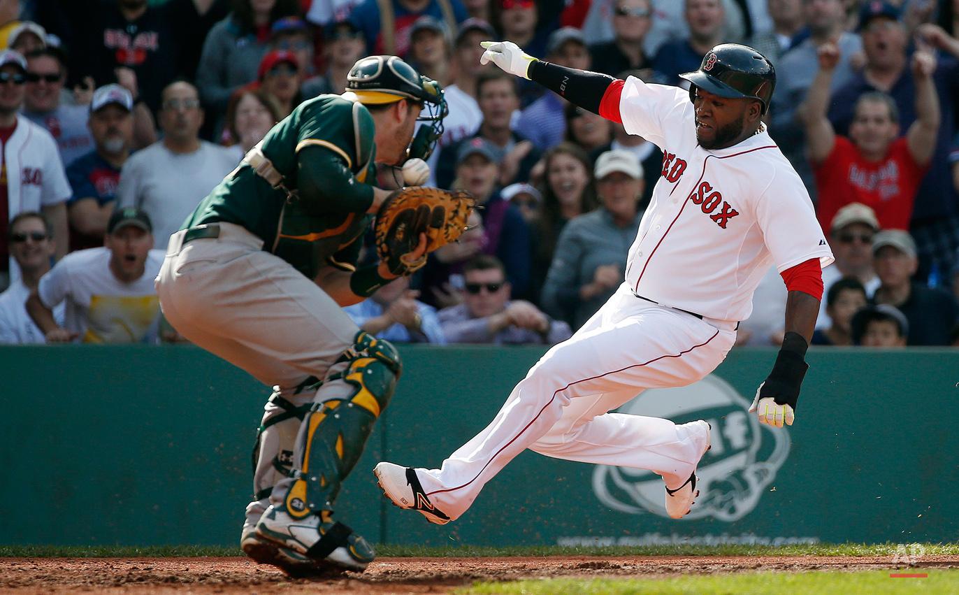 APTOPIX Athletics Red Sox Baseball