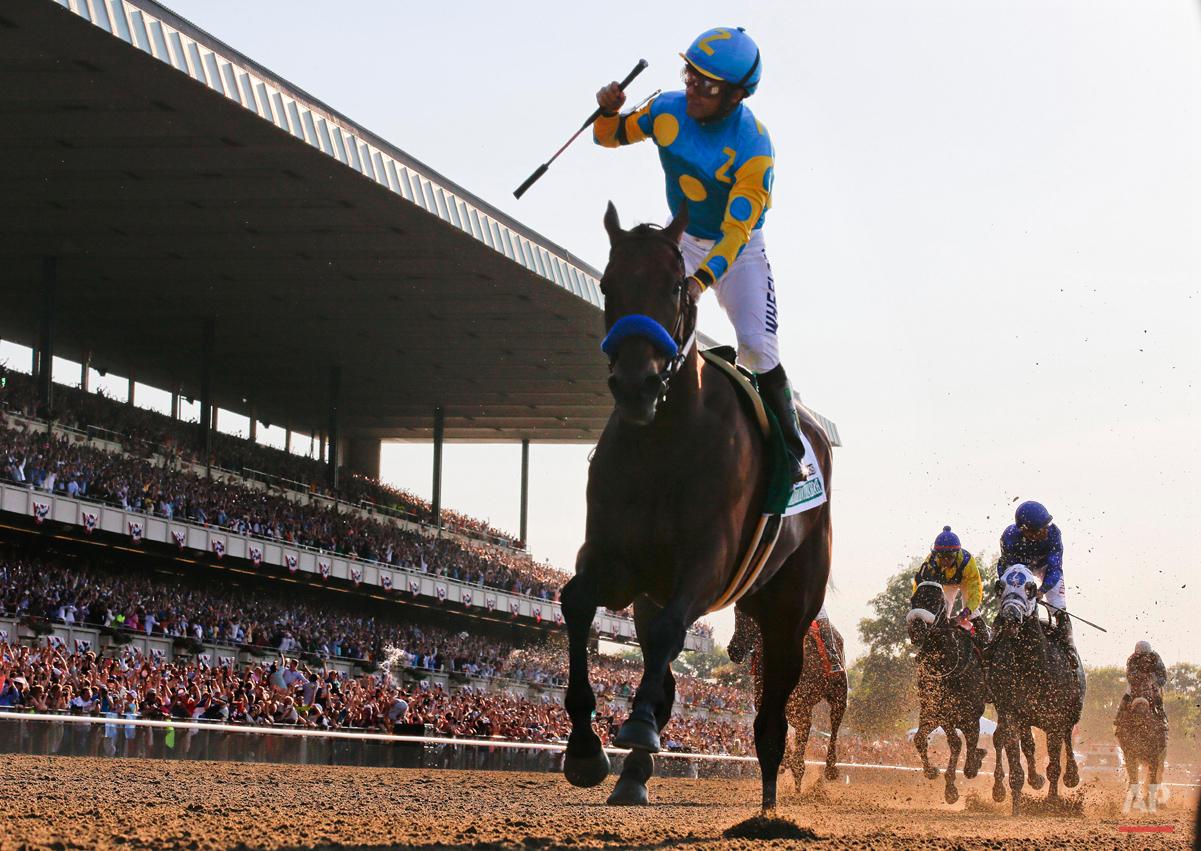 APTOPIX Belmont Stakes Horse Racing