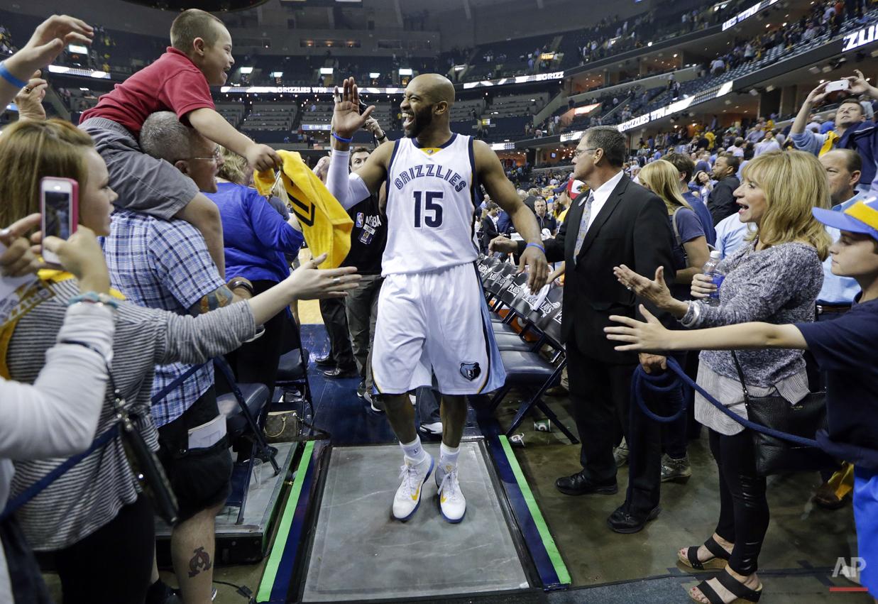 APTOPIX Trail Blazers Grizzlies Basketball