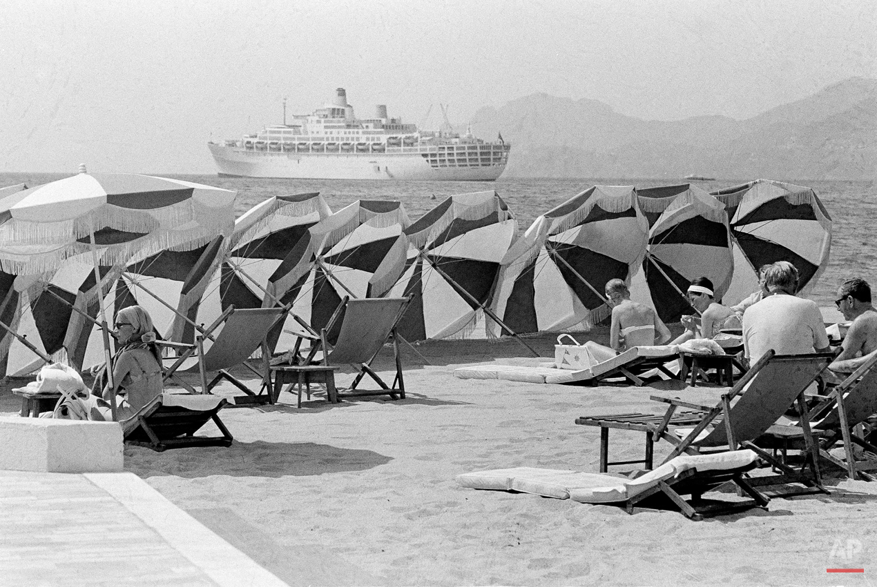 Beach in Cannes France 1967
