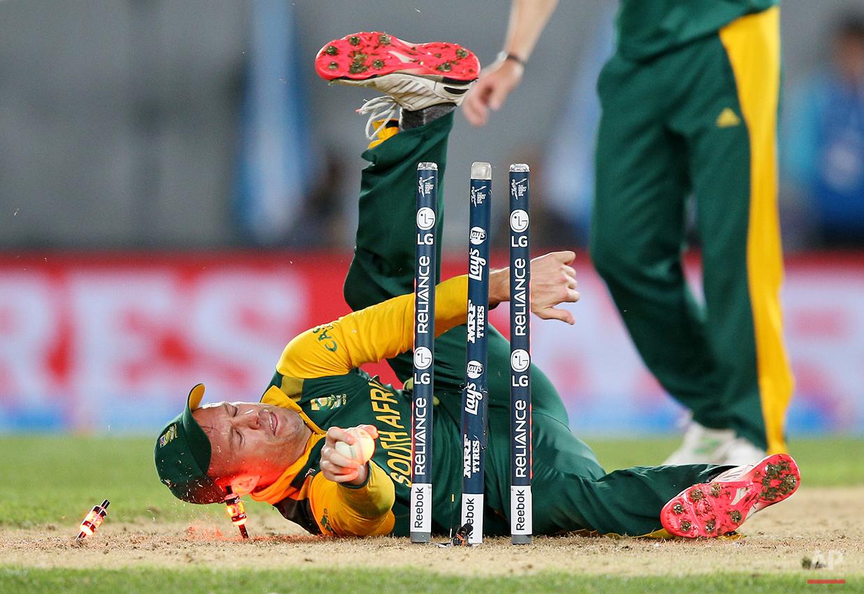 APTOPIX Cricket WCup New Zealand South Africa
