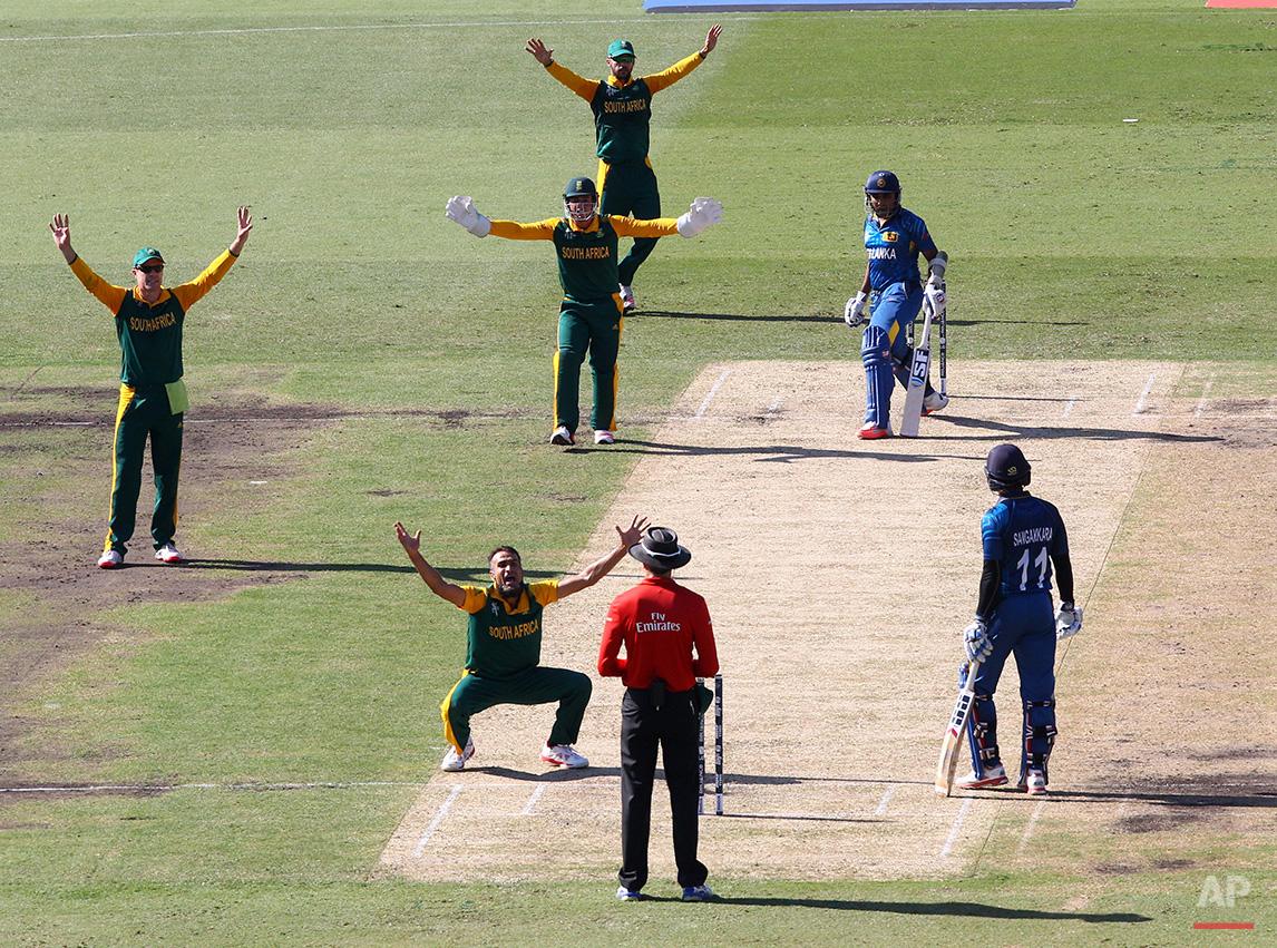 Cricket WCup South Africa Sri Lanka