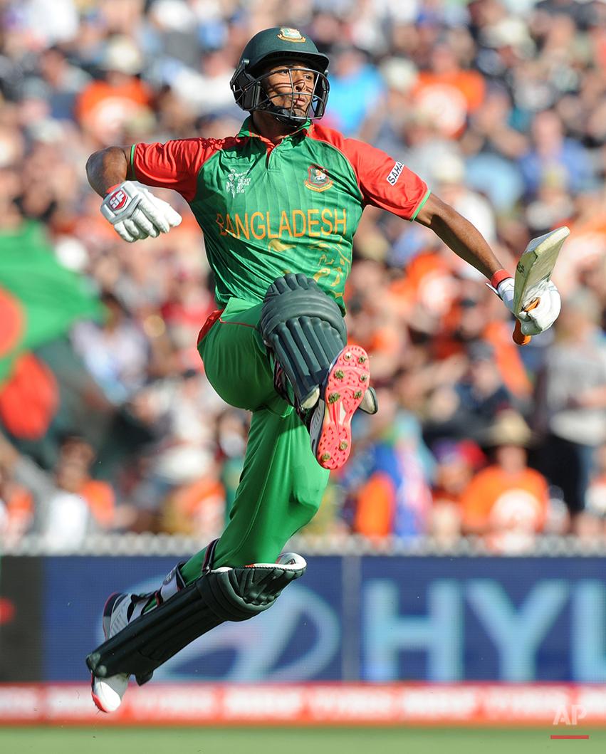 APTOPIX Cricket WCup Bangladesh New Zealand
