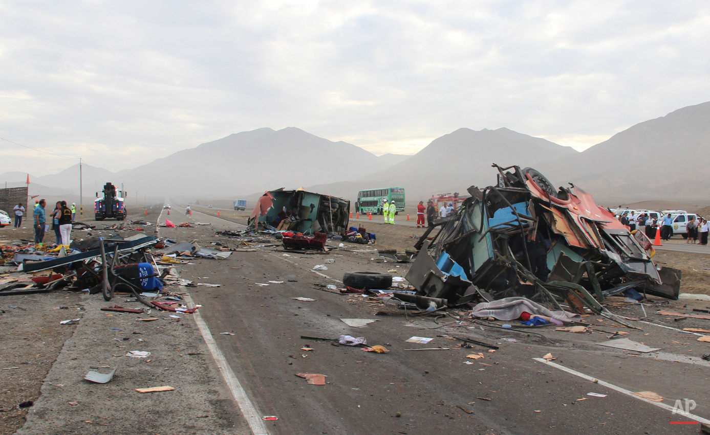 APTOPIX Peru Bus Accident