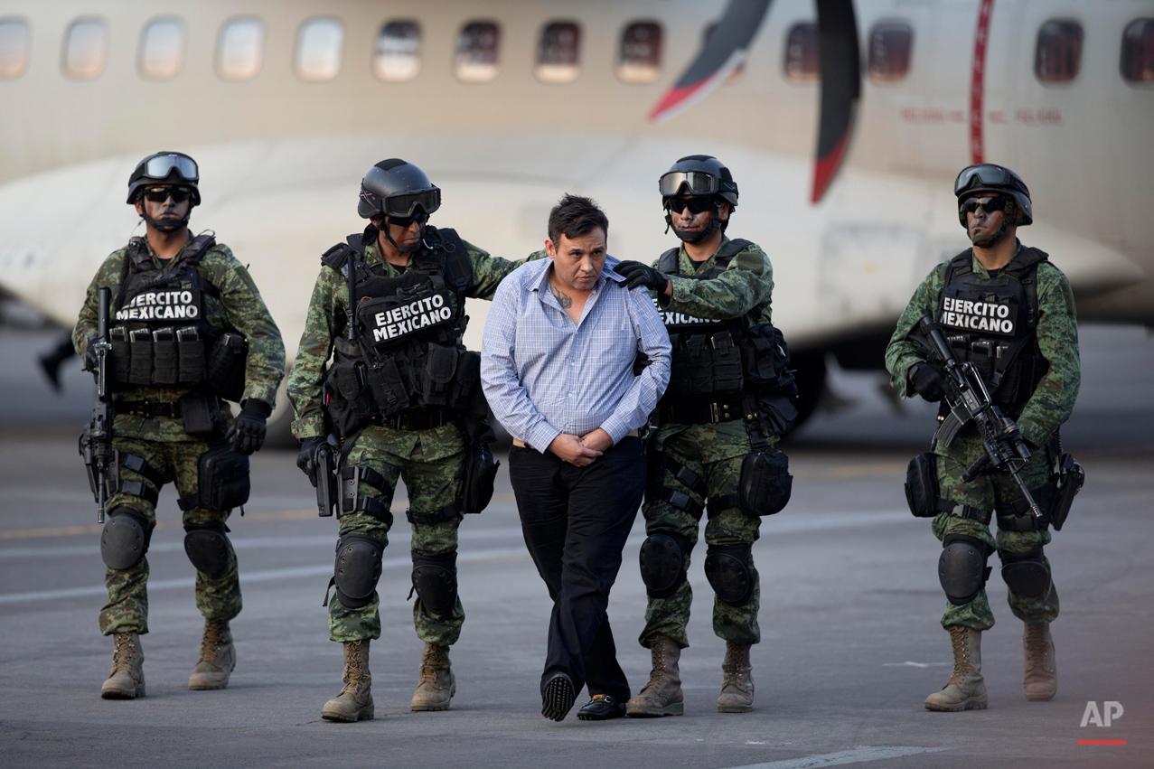 APTOPIX Mexico Drug Cartel Arrest