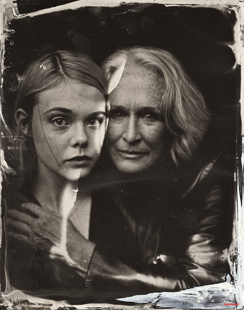 2014 Sundance TIn Type Portraits - Elle Fanning, Glenn Close