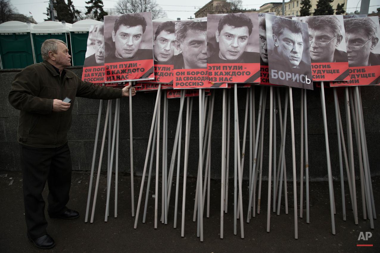 APTOPIX Russia Opposition Leader Killed