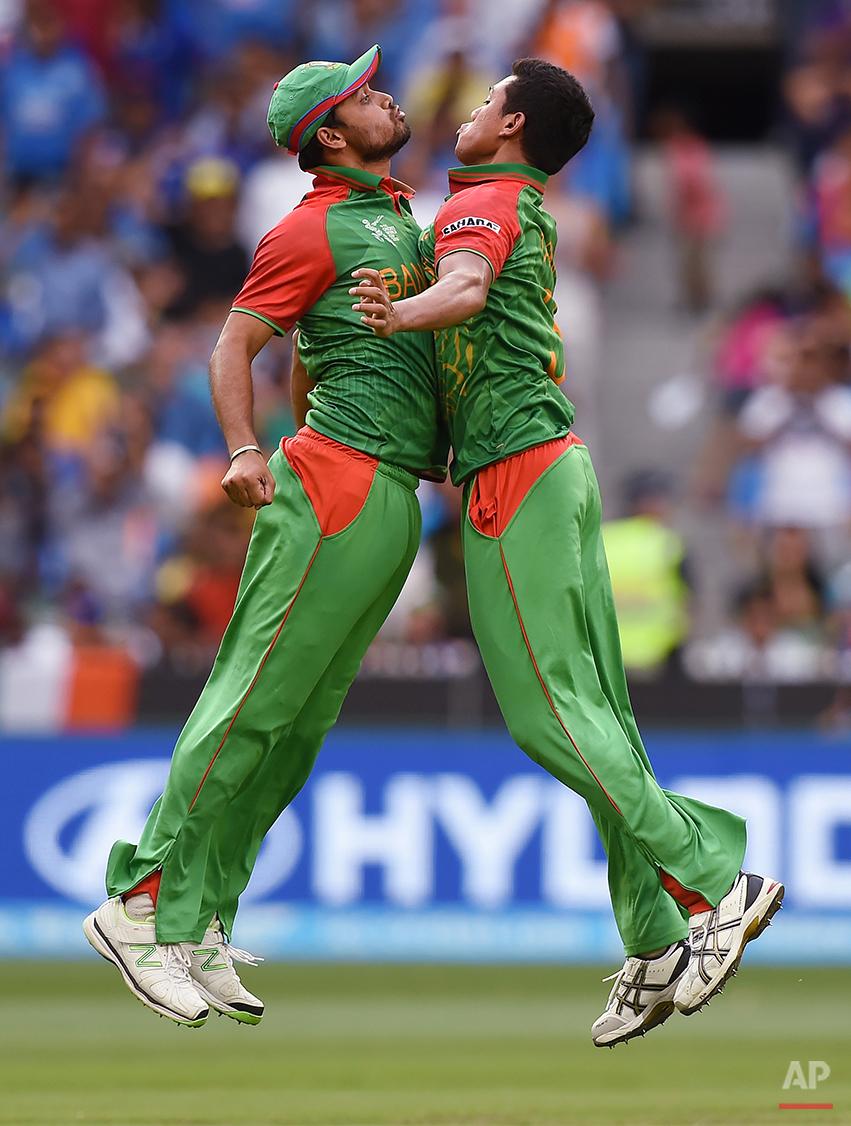 APTOPIX Cricket WCup India Bangladesh