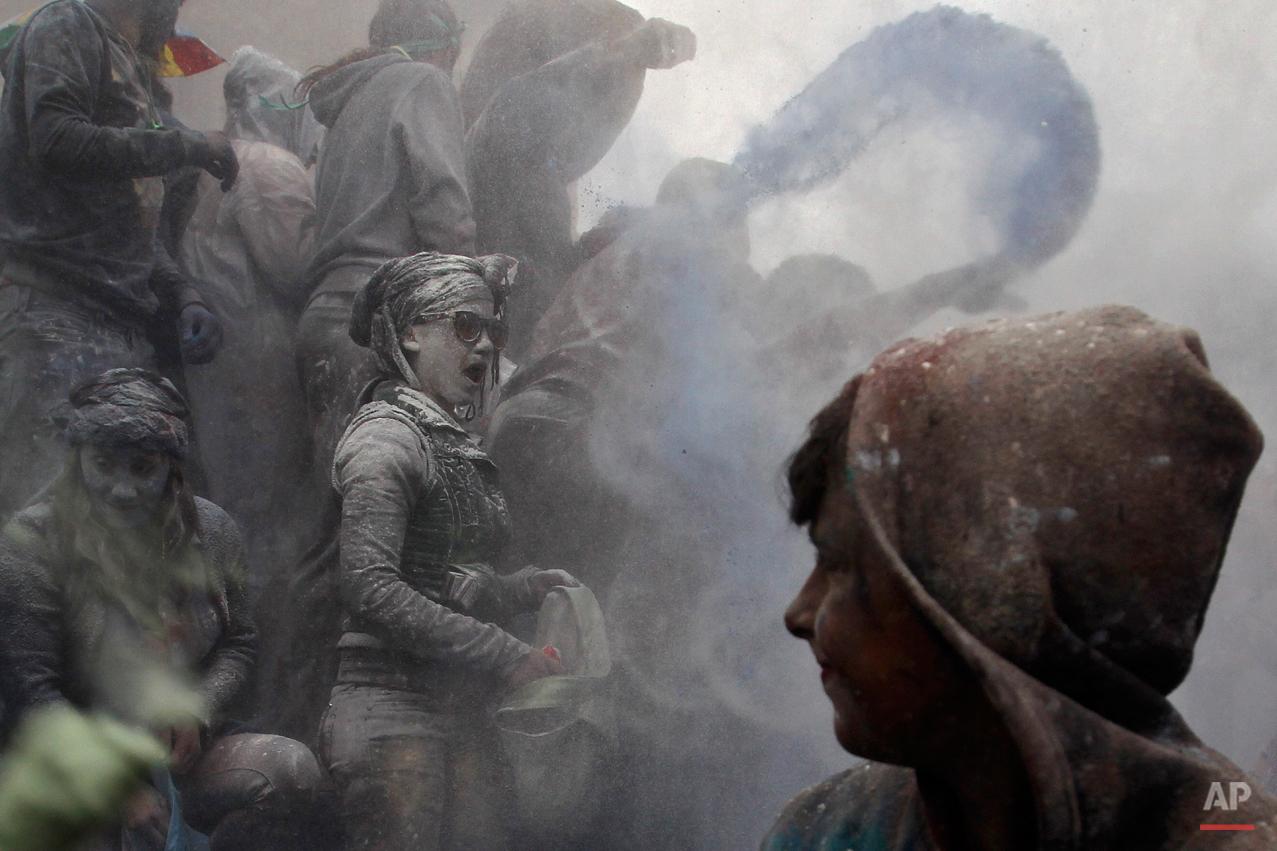 APTOPIX Greece Flour War