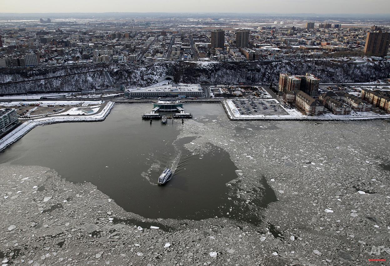 NYC Aerials Winter Weather