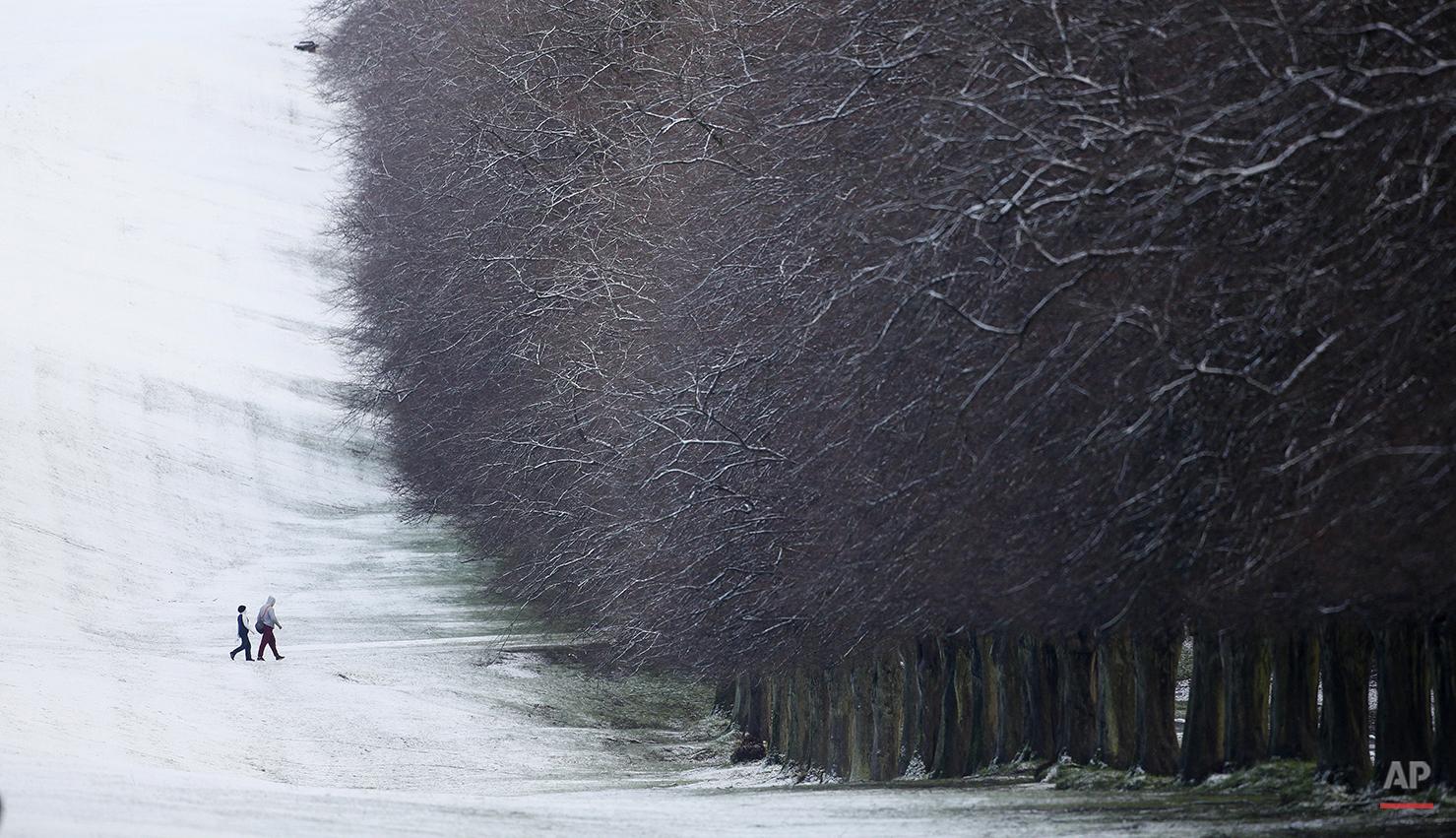 APTOPIX Britain Northern Ireland Weather