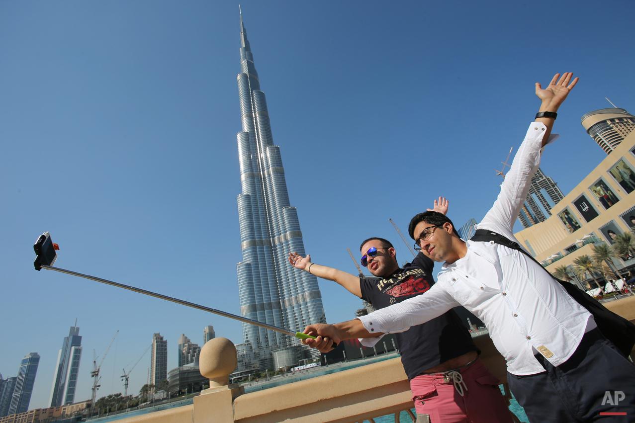 Mideast Emirates Selfie Sticks