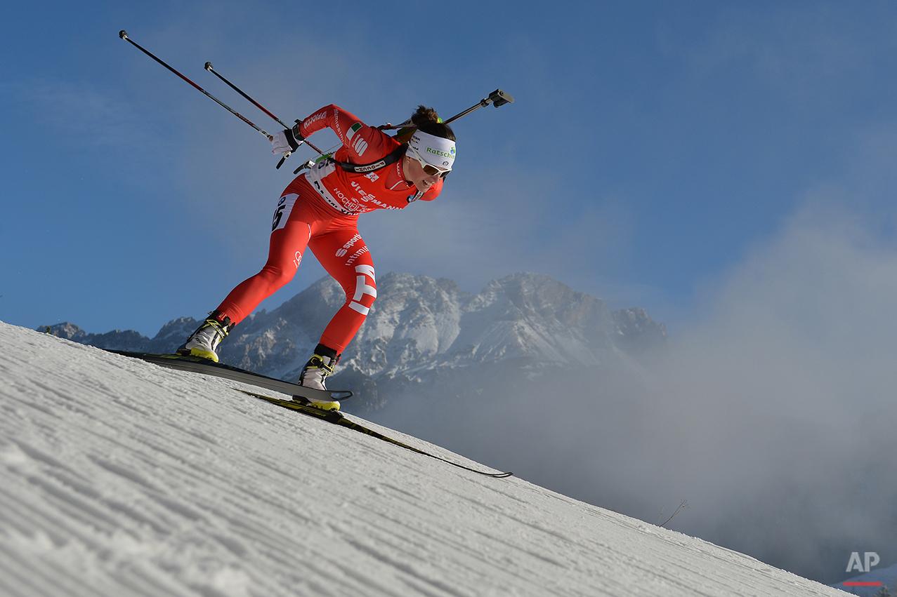 APTOPIX Austria Biathlon World Cup