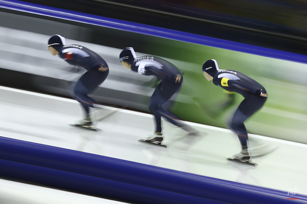 APTOPIX Netherlands Speed Skating World Cup