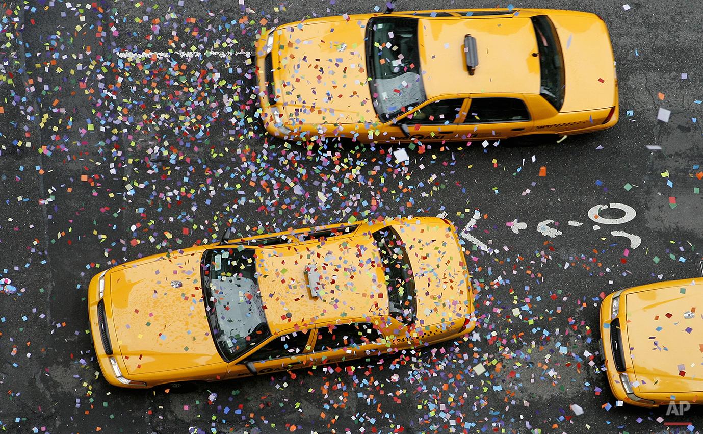 Times Square Confetti Test