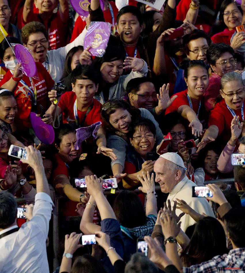 APTOPIX Philippines Pope Asia