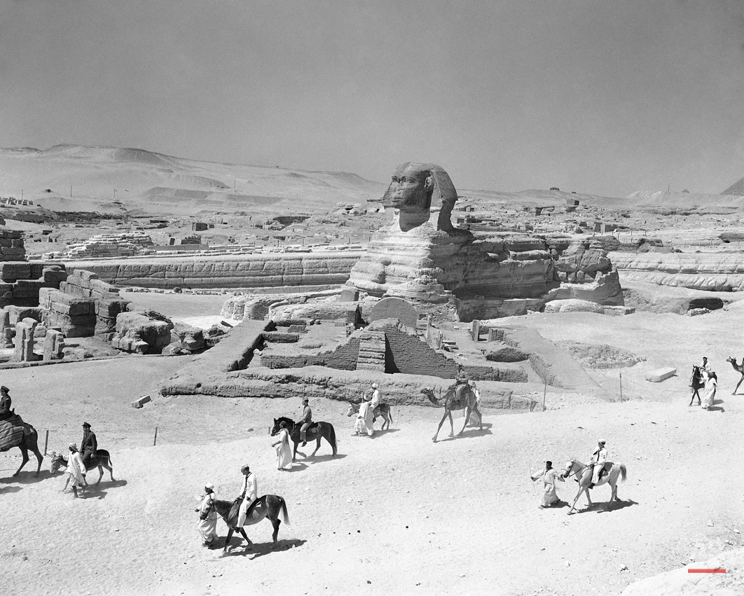 """The Lion's body of the sphinx is firm, but the human face of the majestic monument is showing the effects of 5,000 years of howling sandstorms, scorching desert days and chilling nights in Giza, Egypt on Dec. 5, 1978. """"The Sphinx is sick,"""" reports the daily newspaper Al Akhbar in Cairo, Egypt. The newspaper is also kicking off a public campaign for urgent measures to protect one of Egypt's prime attractions. (AP Photo)"""